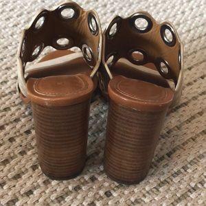 087c0a74 Chloe Grommet suede wooden heeled mule sandals